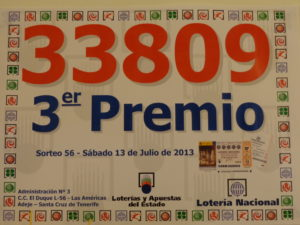 3º Premio Loteria Nacional 13 Julio 2013